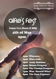 Alfies Fest - May Bank Holiday